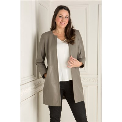 Woodland Leather Mid Length Dress Jacket