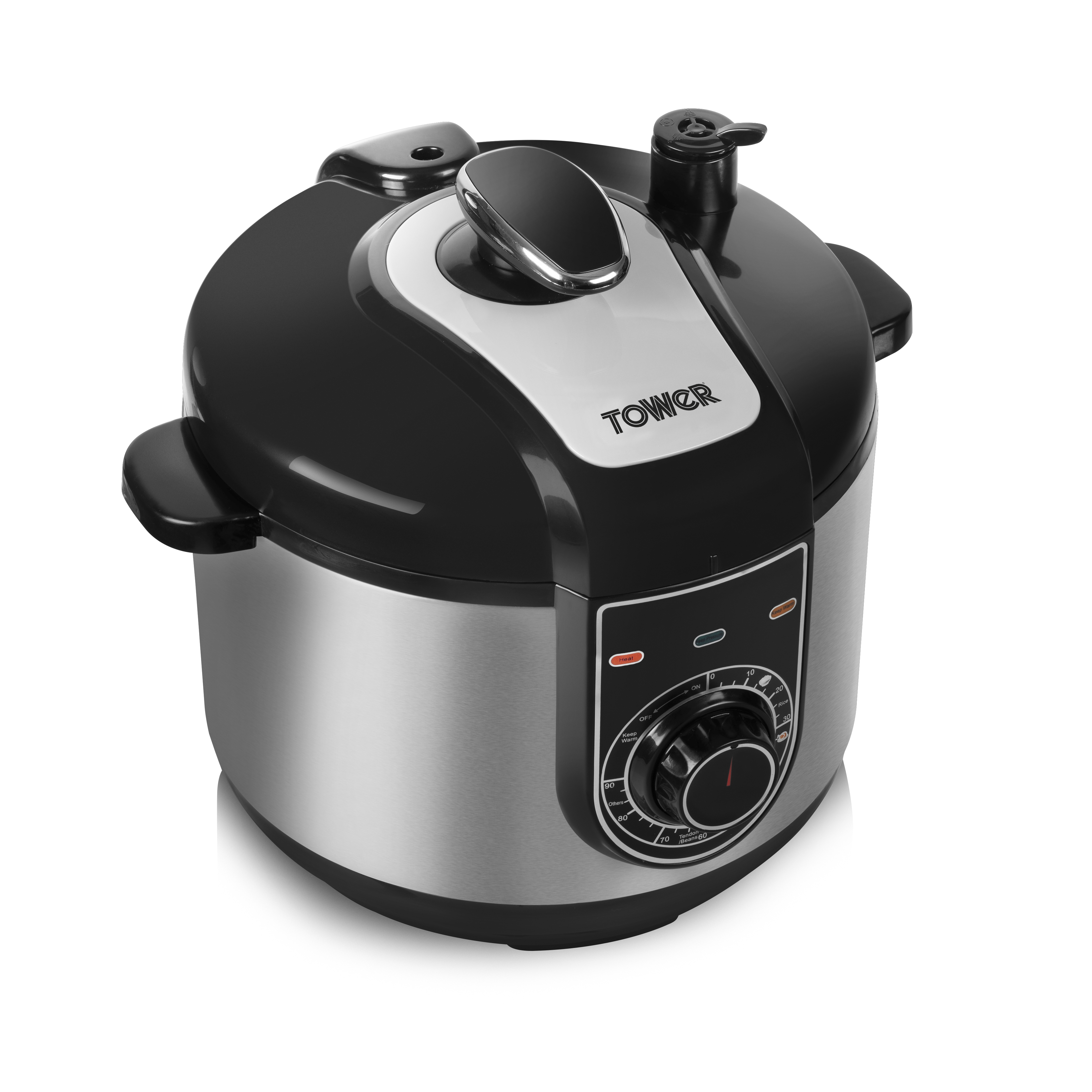 Tower 5L Pressure Cooker - S/Steel No Colour