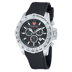 Swiss Eagle Swiss Made Gents Field Chronograph Watch with Silicon Strap