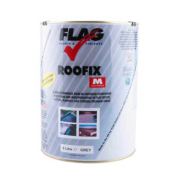 Roofix Multi-Surface Roof Repair 5 Litre Tin Grey