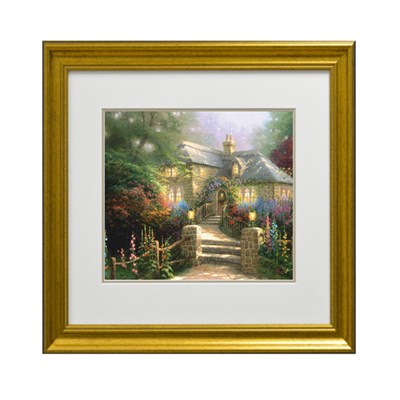 Thomas Kinkade Hollyhock House Print