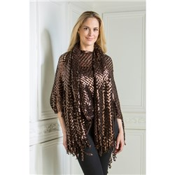 Malissa J Sequin Poncho and Scarf