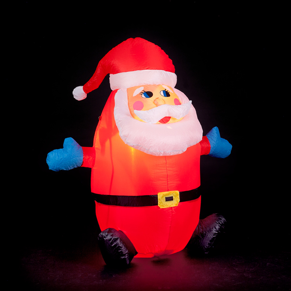 120cm Humpty Dumpty Inflatable Santa No Colour