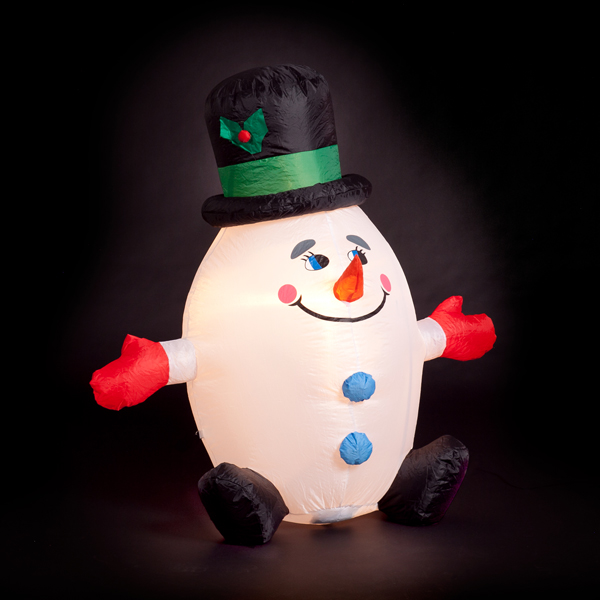 120cm Humpty Dumpty Inflatable Snowman No Colour