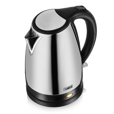 Tower 1.7L Polished S/S Kettle - S/Steel