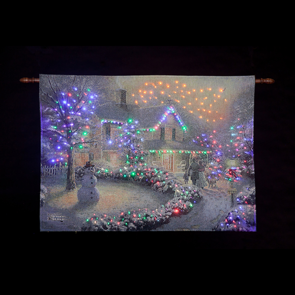 Thomas Kinkade Battery Powered Fibre Optic Tapestry No Colour