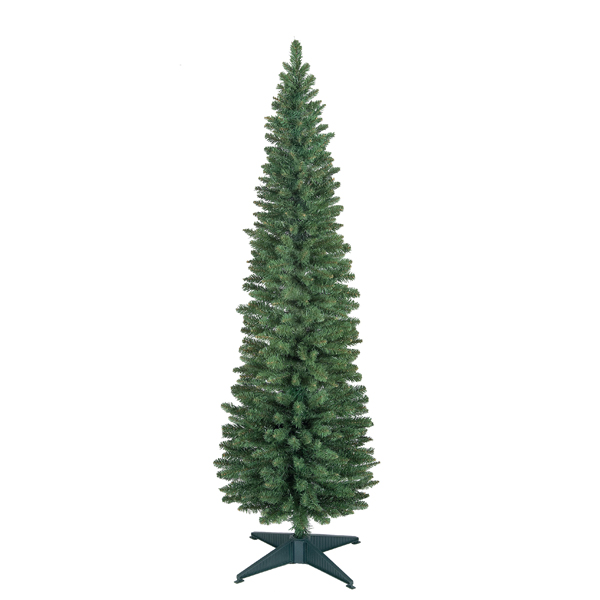 240cm Wrapped Pencil Pine Tree No Colour