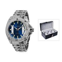 Android TM Gents Silverjet Miyota Quartz Watch with Stainless Steel Bracelet