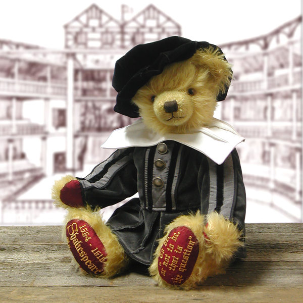 William Shakespeare Anniversary Edition for the 450th Birthday Bear by HERMANN- Spielwaren (Limited Edition of 450 Pieces) No Colour
