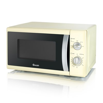 Swan 800W Solo Microwave - Cream