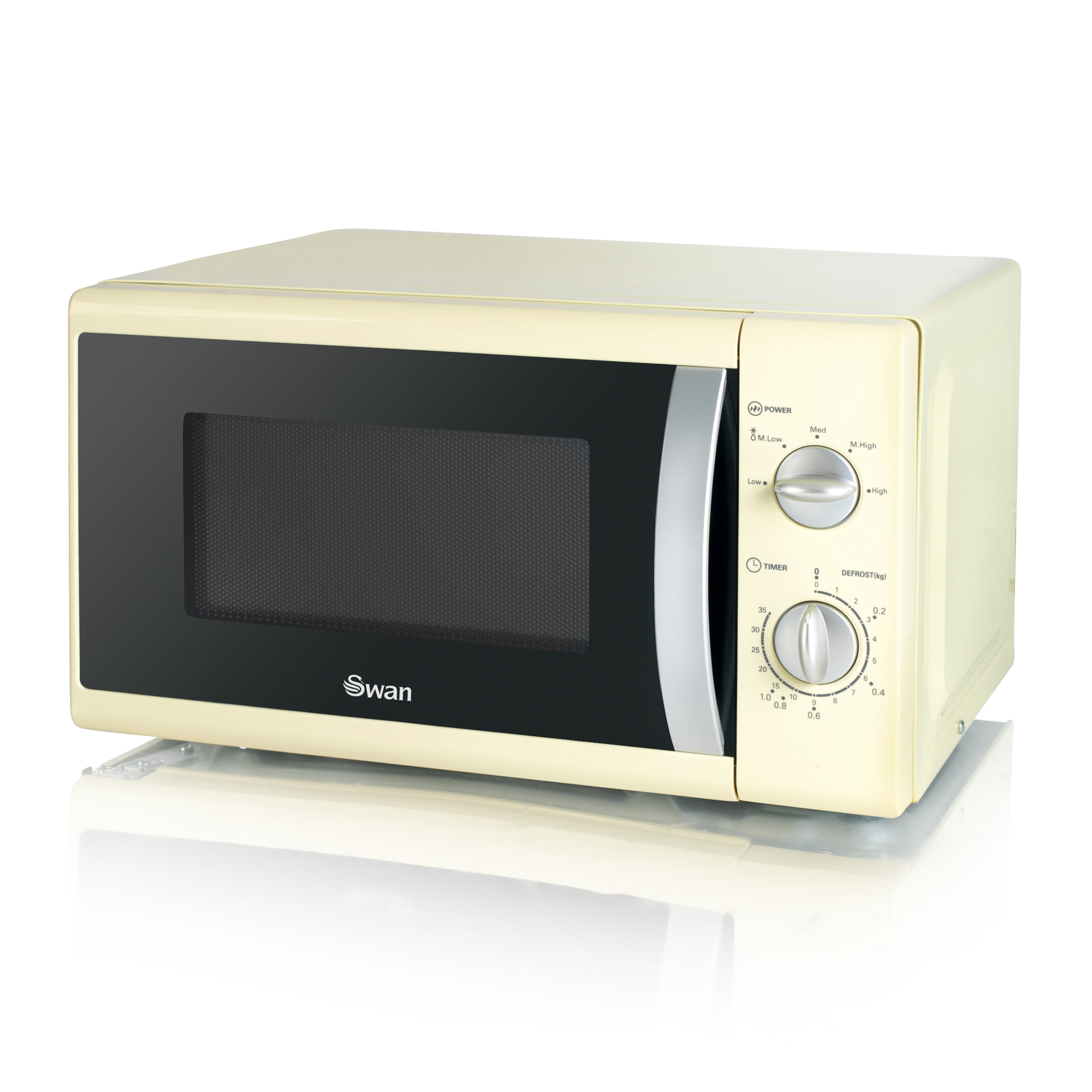 Swan 800W Solo Microwave - Cream No Colour
