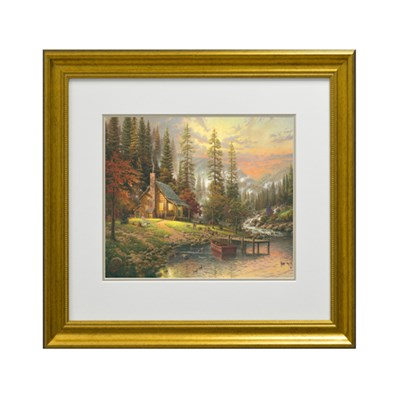 Thomas Kinkade A Peaceful Retreat Open Edition Framed Print