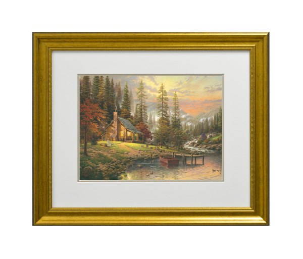 Thomas Kinkade A Peaceful Retreat Open Edition Framed Print Traditional