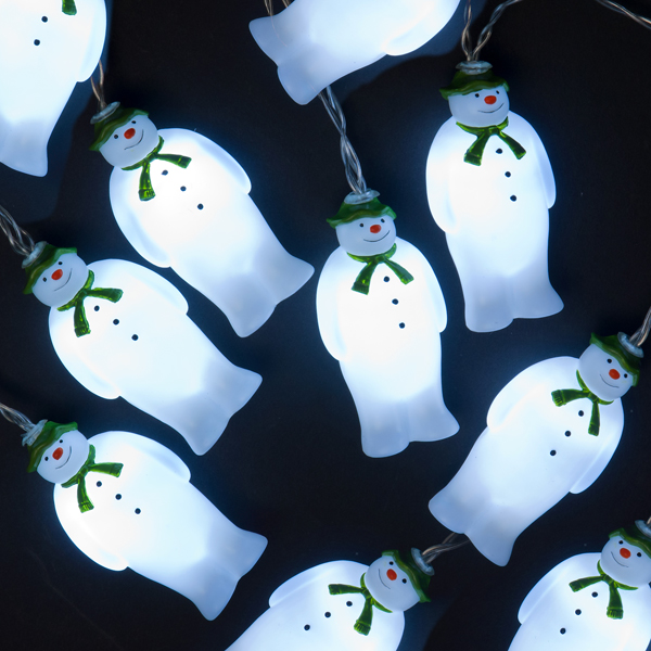 Blow Mould 10 Snowmen LED Indoor Light String/Ice White No Colour