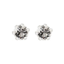 Sterling Silver Crystal Stud Earrings Made with Swarovski Elements