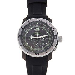 Vostok Europe Gents Ekranoplan KM Chronograph Movement Watch with Silicone Strap