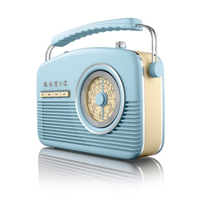 Akai Retro Radio - Blue