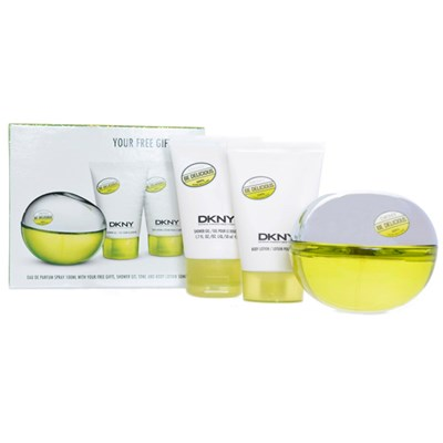 Be Delicious EDP Spray 100ml, Shower Gel 50ml, Body Lotion 50ml