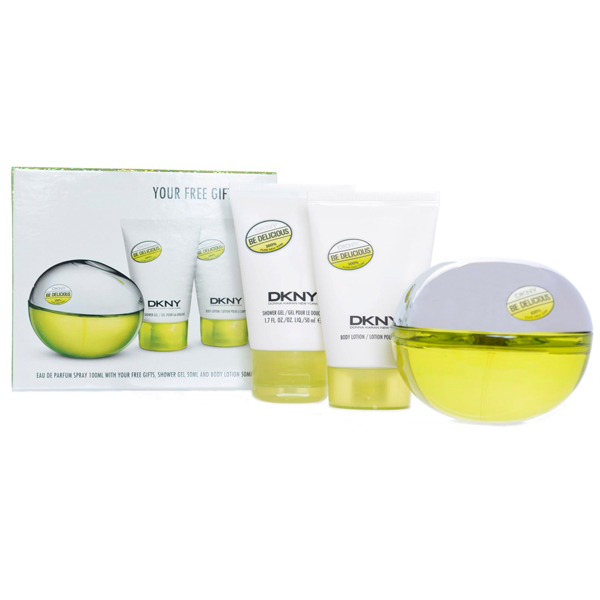 Be Delicious EDP Spray 100ml, Shower Gel 50ml, Body Lotion 50ml No Colour