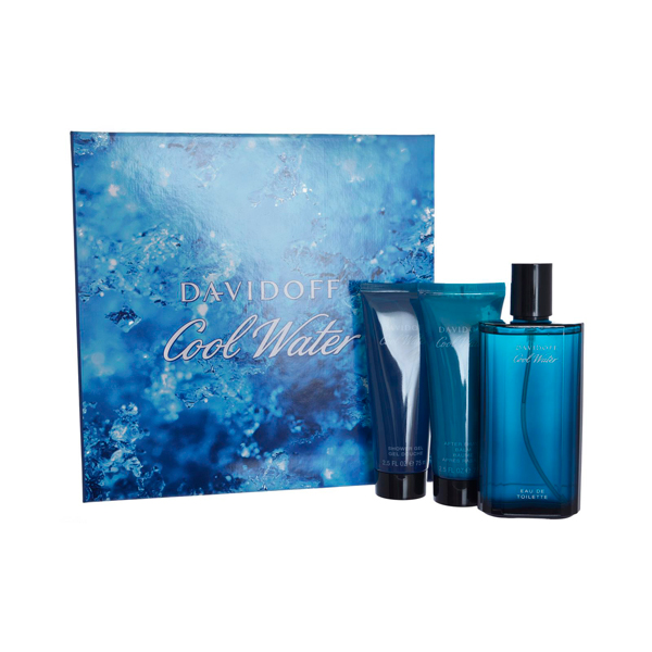 Cool Water Man EDT Spray 125ml, After Shave Balm 75ml, Shower Gel 75ml No Colour