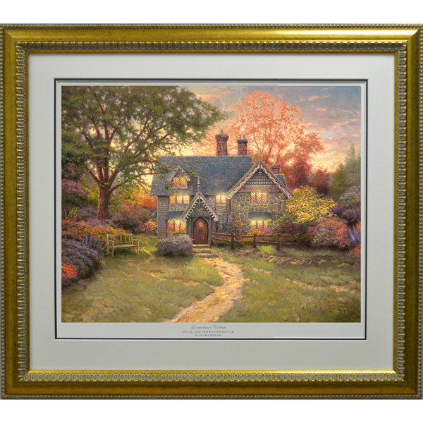 Thomas Kinkade Gingerbread Cottage Limited Edition Framed Print 60 I/P No Colour