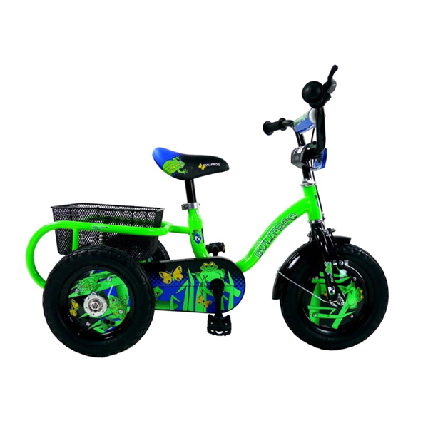 Pedal Pals Frog 12inch Boys Tricycle No Colour