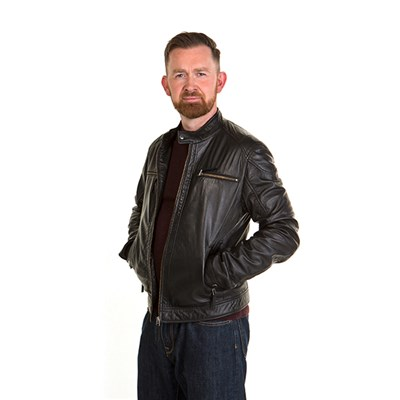 Woodland Leather Mens Biker Jacket
