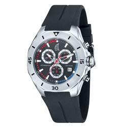 Spinnaker Gents Keel Swiss Quartz Chronograph Watch with Silicone Strap