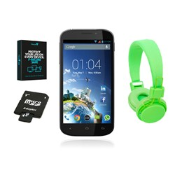Kazam X4.5 4.5 inch Dual Core 4GB Smartphone - Twin SIM Enabled - 5MP Camera - Headphones - 8GB Memory Card - Security Software