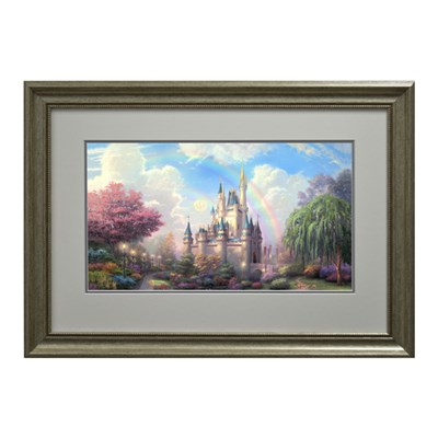 Thomas Kinkade A New Day at Cinderellas Castle Open Edition Framed Print