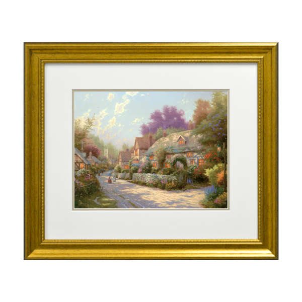 Thomas Kinkade Cobblestone Village Open Edition Framed Print Traditional