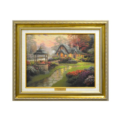 Thomas Kinkade Make a Wish Cottage Open Edition Canvas Framed Print