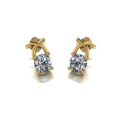Lady Lynsey 9ct Gold 1.00ct eq Kiss Stud Earrings