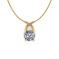 Lady Lynsey 9ct Gold 1.00ct eq Kiss Solitaire Pendant