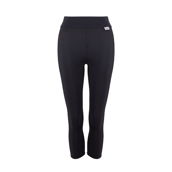 Proskins Intelligent Slim Range 3/4 Length Leggings Black