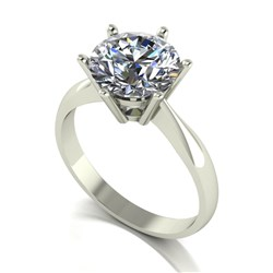 Moissanite 9ct Gold 3.00ct eq Finesse Solitaire Ring