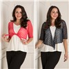 Sugar Crisp 2 Pack Knit Sequin Shrug Coral/Navy