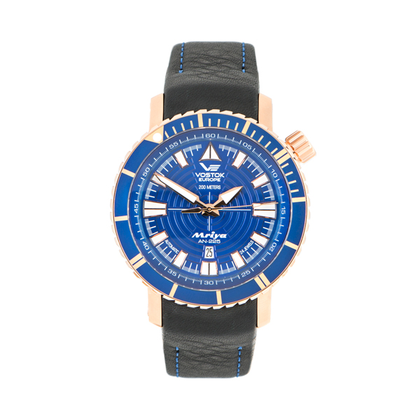 Vostok Europe Gents Mriya Automatic Watch with Interchangeable Genuine Leather and Silicone Strap in a Dry Box Rose Gold