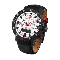 Vostok Europe Gents Dakar Rally Ana-Digi Quartz Chronograph Watch with Interchangeable Genuine Leather and Silicone Strap