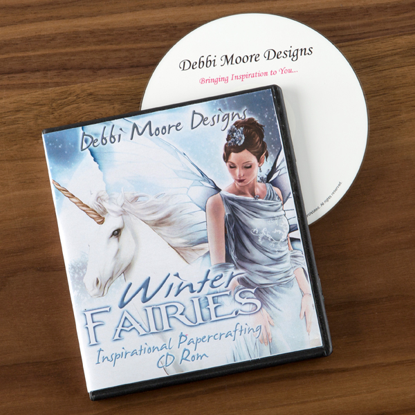 Debbi Moore Winter Fairies Papercrafting CD ROM No Colour