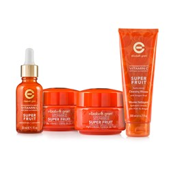 Elizabeth Grant Vitamin C Super Fruit Collection - Day Cream 50ml - Night Cream 50ml - Concentrate 30ml - Plus Cleansing Mousse with Dragon Fruit 200ml