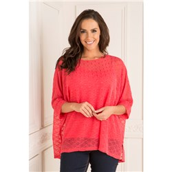 Sugar Crisp Sequin Knit Batwing Top with Cami,