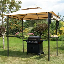 Barbeque Gazebo with Awning