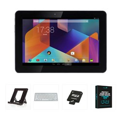 HANNspree 10.1 inch 16GB Quad Core HD-IPS Tablet Bundle