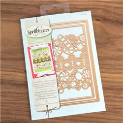 Spellbinders Holiday Dies - Gingerbread Card Front