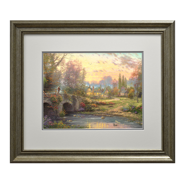 Thomas Kinkade Cobblestone Evening Open Edition Print Modern