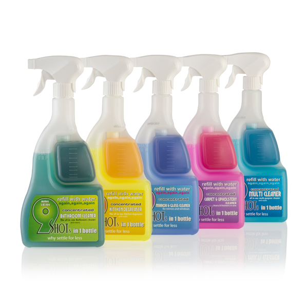 9 Shot Value Cleaning Range Refillable Bottle 9 x Formula Shots No Colour