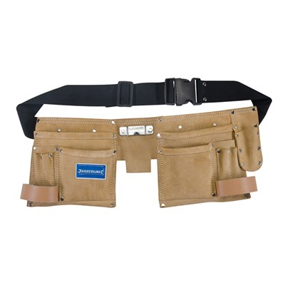Trio Silverline Double Pouch Tool Belt - 11 Pocket
