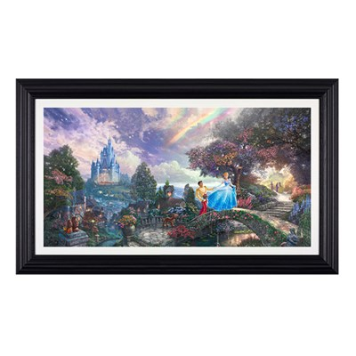 Thomas Kinkade Cinderella Wished Upon A Dream Framed Canvas