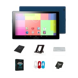 GoClever TQ1010N 10.1 inch 8GB Quad Core Tablet plus Case - 16GB Card - Headphones - Bluetooth Keyboard - Stand - Security Software